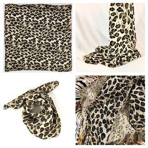 Accessories - Leopard Animal Print Bandana Square Scarf Kerchief